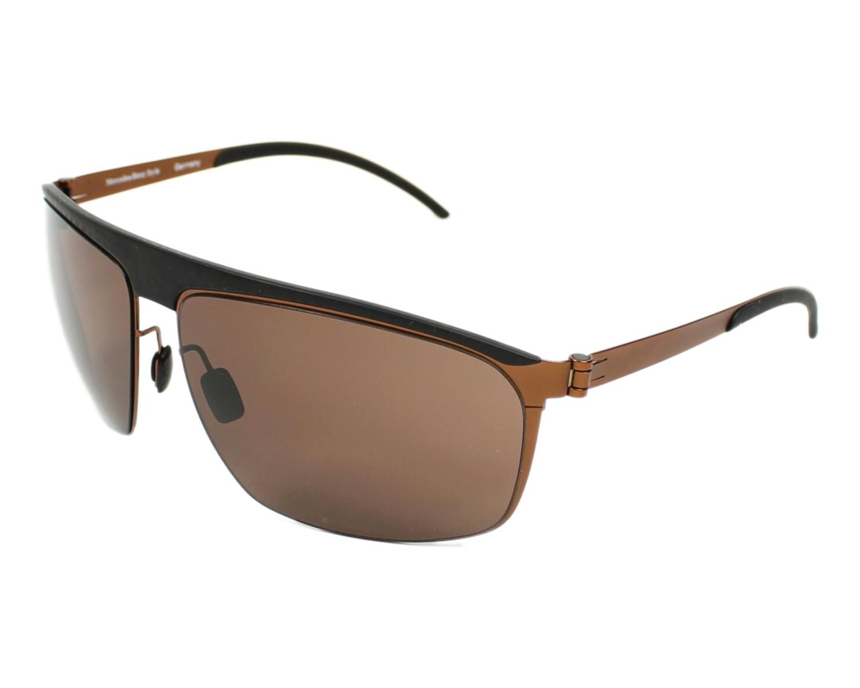 lunettes de soleil mercedes m 1046 a noir avec des verres marron pour hommes. Black Bedroom Furniture Sets. Home Design Ideas