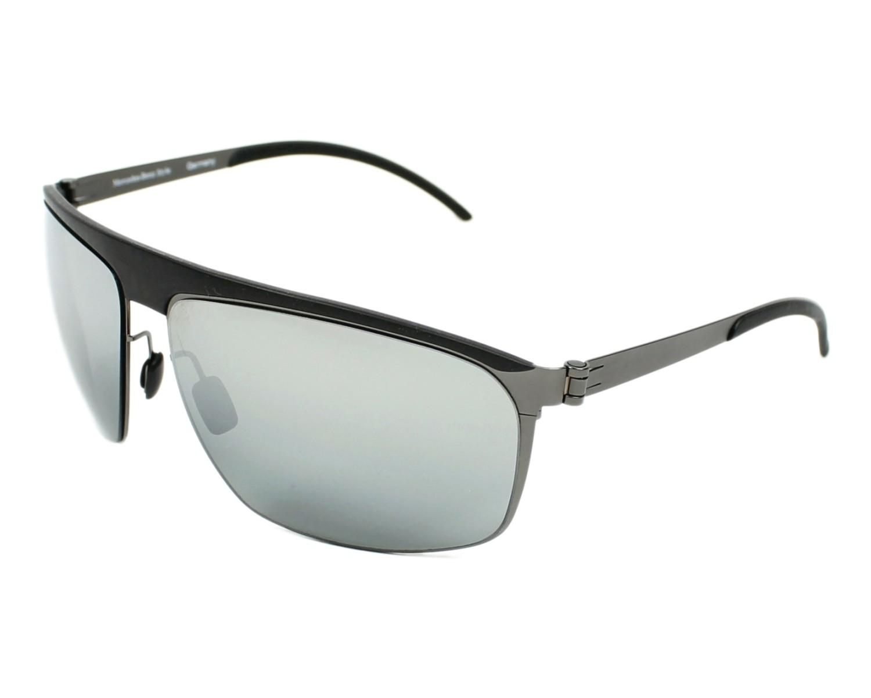 lunettes de soleil mercedes m 1046 d noir avec des verres gris pour hommes. Black Bedroom Furniture Sets. Home Design Ideas