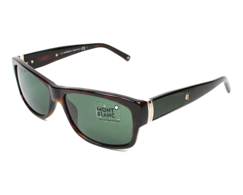 lunettes de soleil mont blanc mb 370 s 52n havane avec des verres gris vert. Black Bedroom Furniture Sets. Home Design Ideas