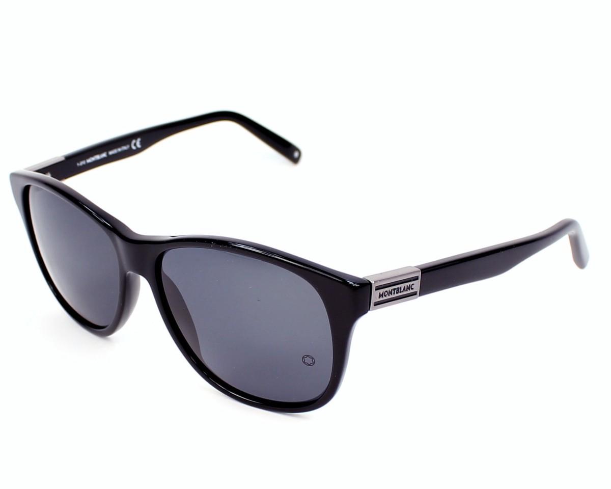 lunettes de soleil mont blanc mb 373 s 01a noir avec des verres gris pour femmes. Black Bedroom Furniture Sets. Home Design Ideas