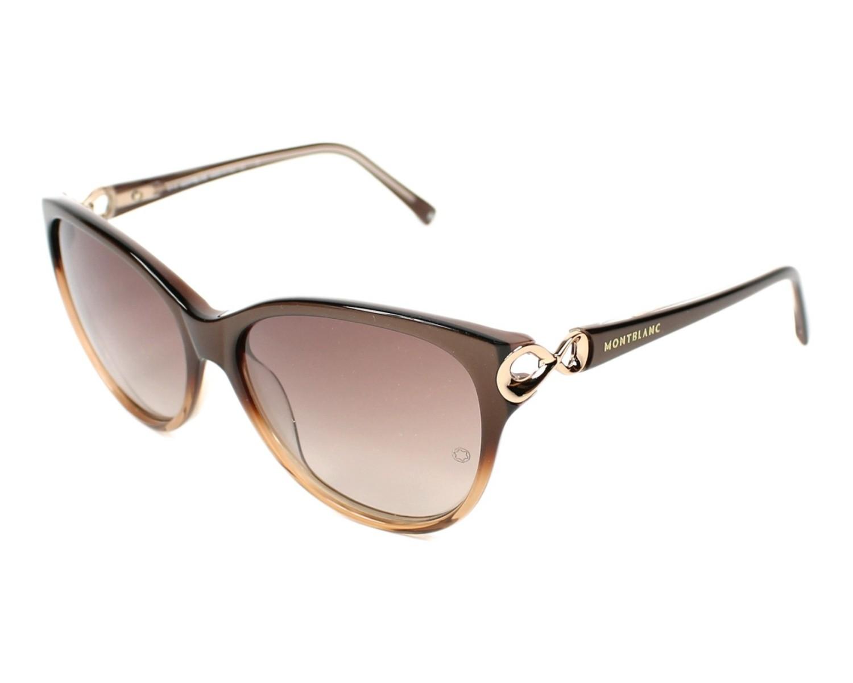 lunettes de soleil mont blanc mb 469 s 50f marron avec des verres marron pour femmes. Black Bedroom Furniture Sets. Home Design Ideas
