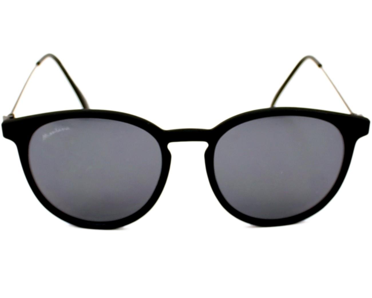 9f6f06b9df Lunettes de soleil Montana S-33 black 50-17 Noir Gunmetal vue de face