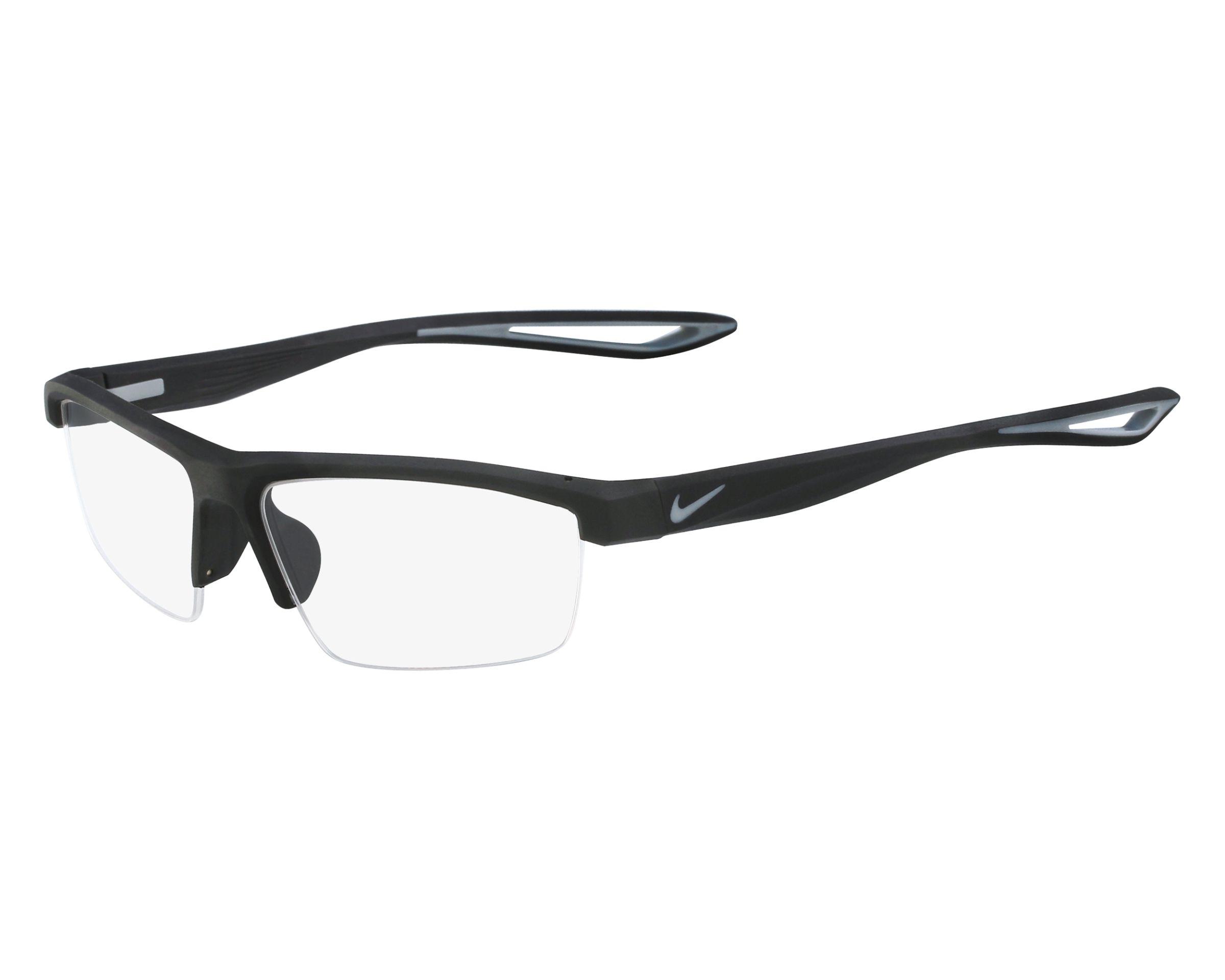 Lunettes de vue Nike 7079 001 57-15 Noir Gris vue de face 43ae6e533237