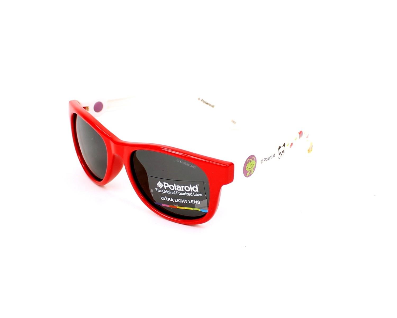 836fda08e8 Lunettes de soleil Polaroid PLD-8011-S MC4/Y2 - Rouge Blanc vue