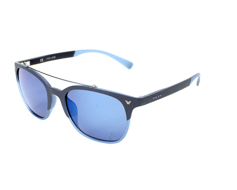 lunettes de soleil police spl 161 j24b bleu avec des verres gris pour femmes. Black Bedroom Furniture Sets. Home Design Ideas