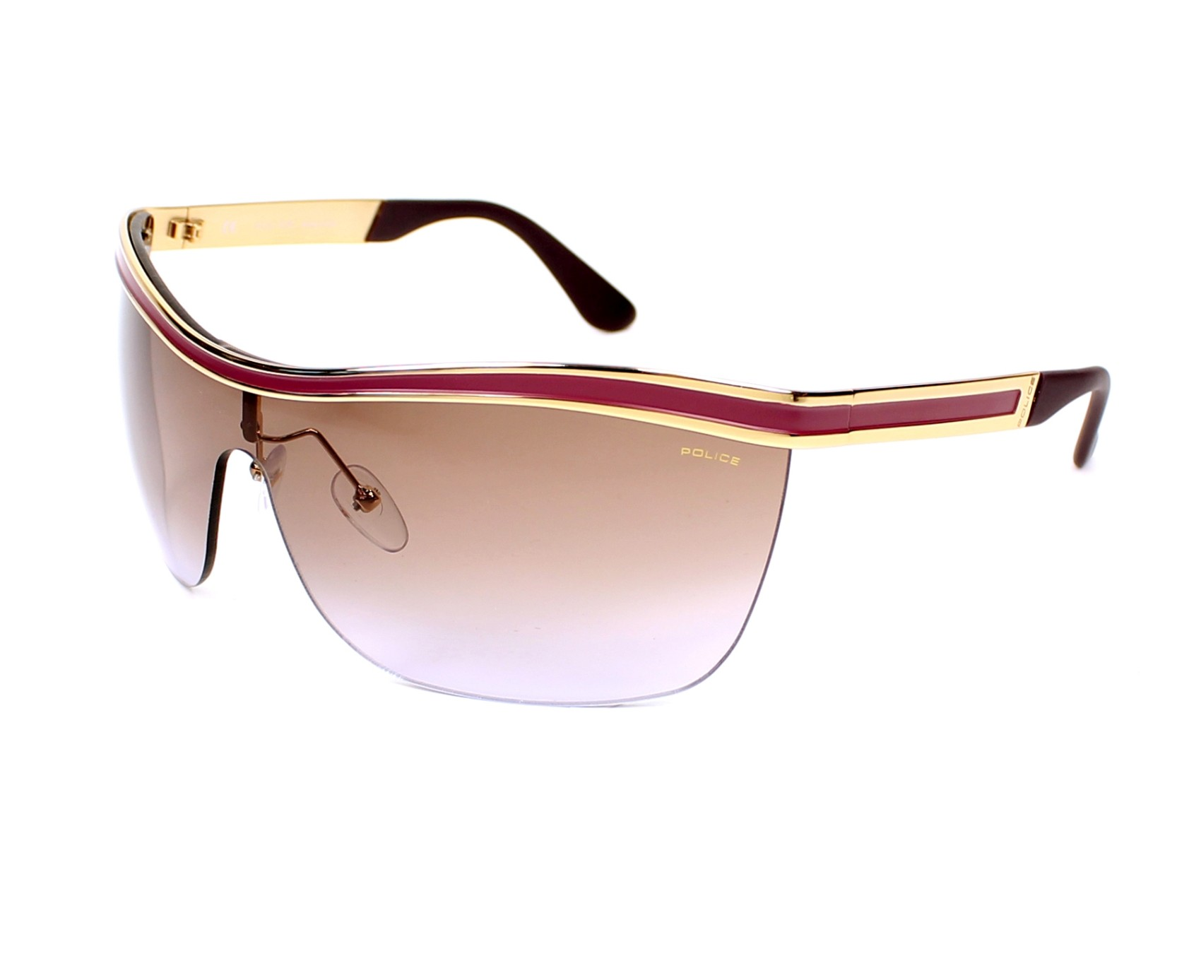 lunettes de soleil police s 8872 0a93 or avec des verres gris pour hommes. Black Bedroom Furniture Sets. Home Design Ideas