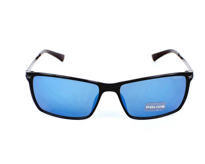 lunettes de soleil police s 1957 z42b noir avec des verres gris. Black Bedroom Furniture Sets. Home Design Ideas
