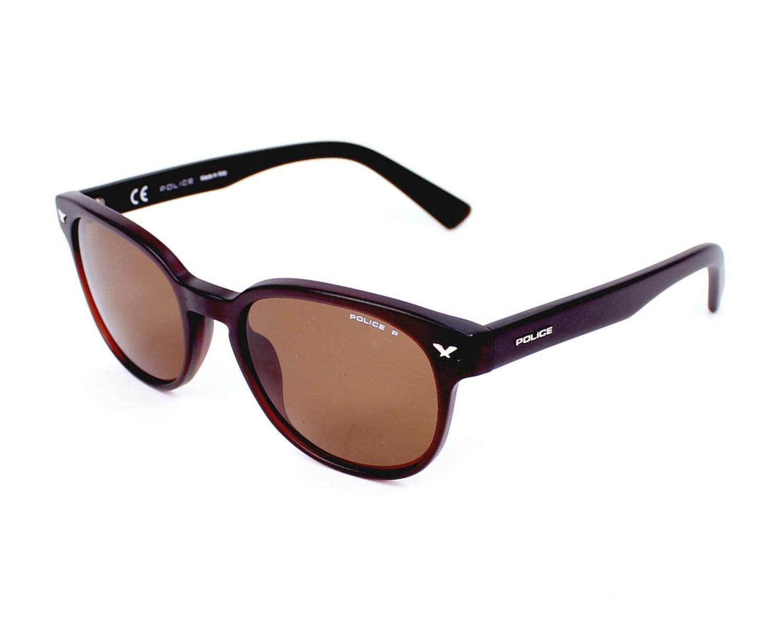 lunettes de soleil police spl 143 z55p marron avec des verres marron pour hommes. Black Bedroom Furniture Sets. Home Design Ideas