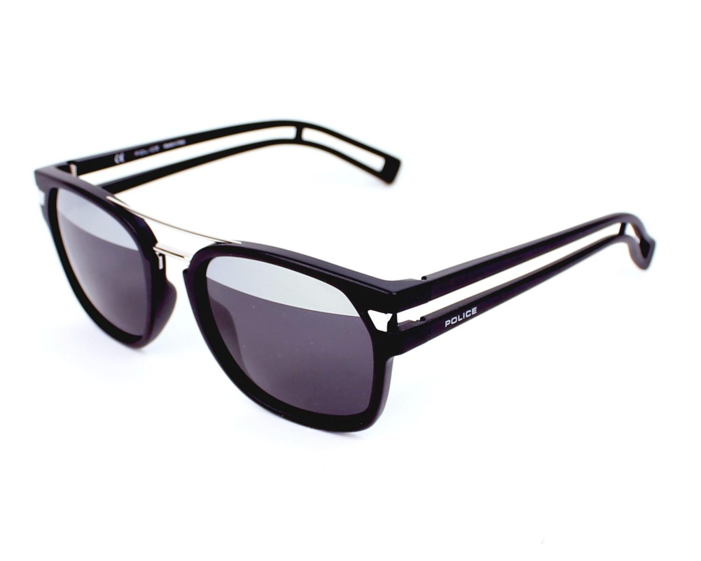 lunettes de soleil police s 1948 u28h noir avec des verres gris pour hommes. Black Bedroom Furniture Sets. Home Design Ideas