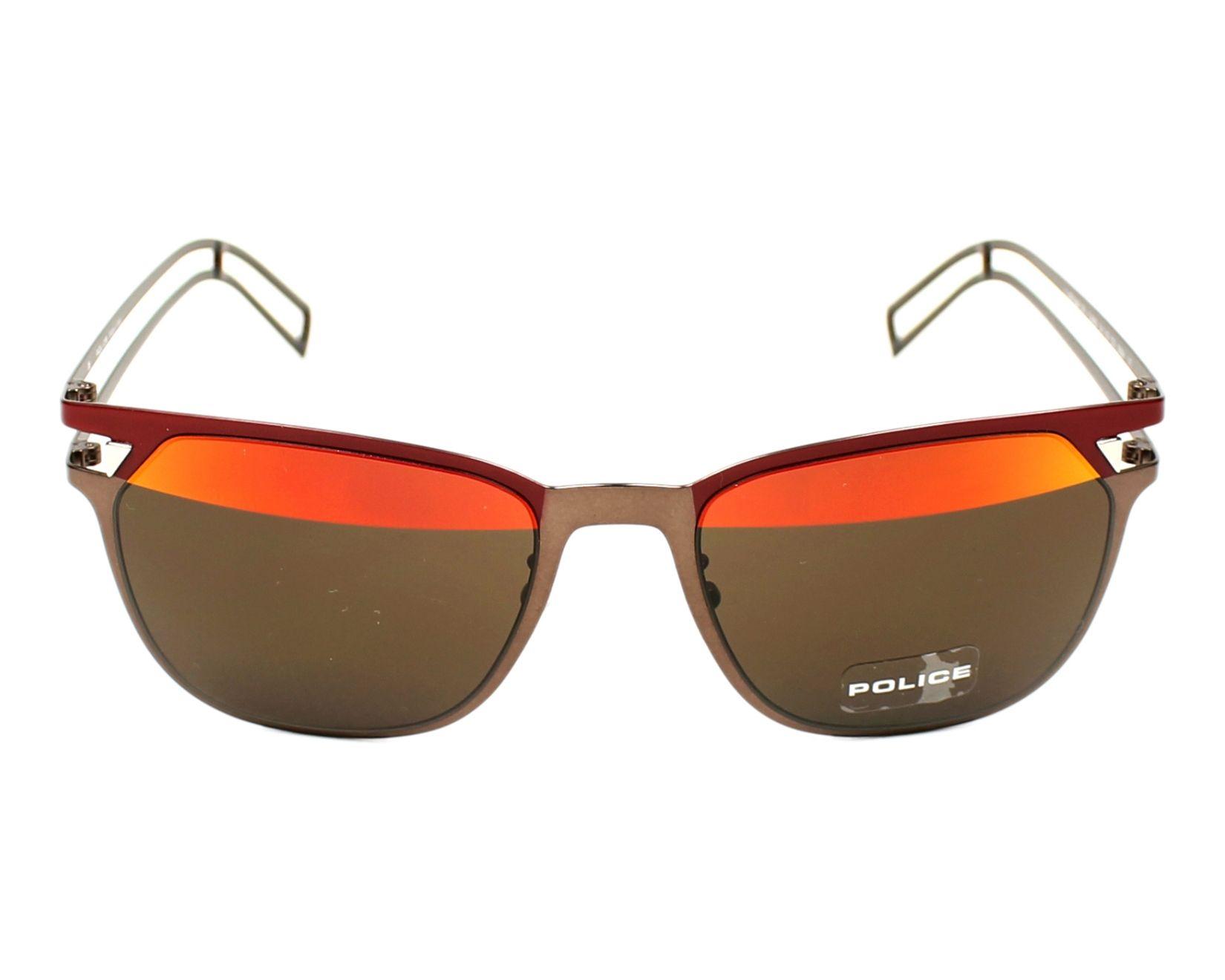 lunettes de soleil police s 8965 sn8h bronze avec des verres marron pour hommes. Black Bedroom Furniture Sets. Home Design Ideas