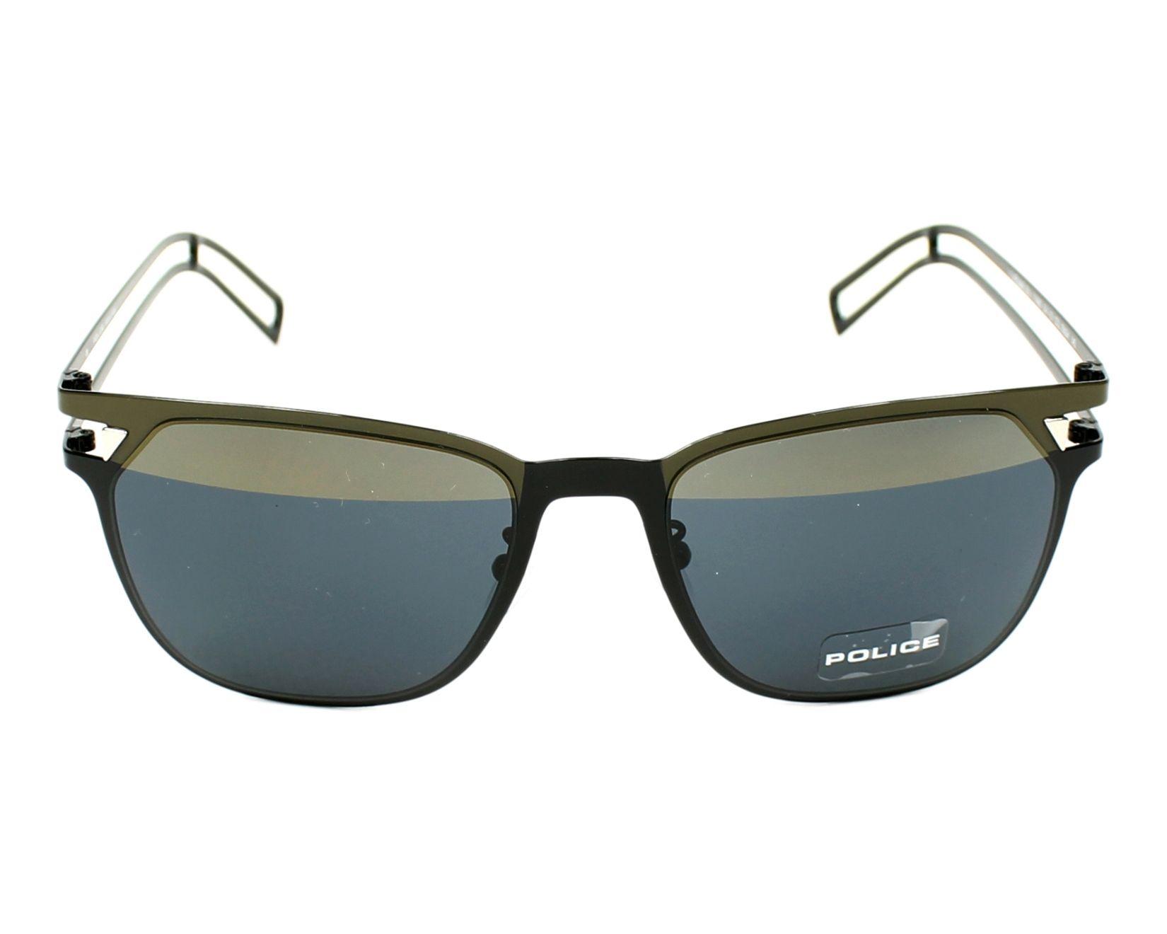 lunettes de soleil police s 8965 sngh noir avec des verres gris marron. Black Bedroom Furniture Sets. Home Design Ideas
