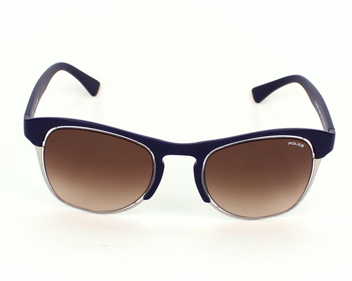 lunettes de soleil police s 1954 d82m bleu avec des verres marron pour hommes. Black Bedroom Furniture Sets. Home Design Ideas