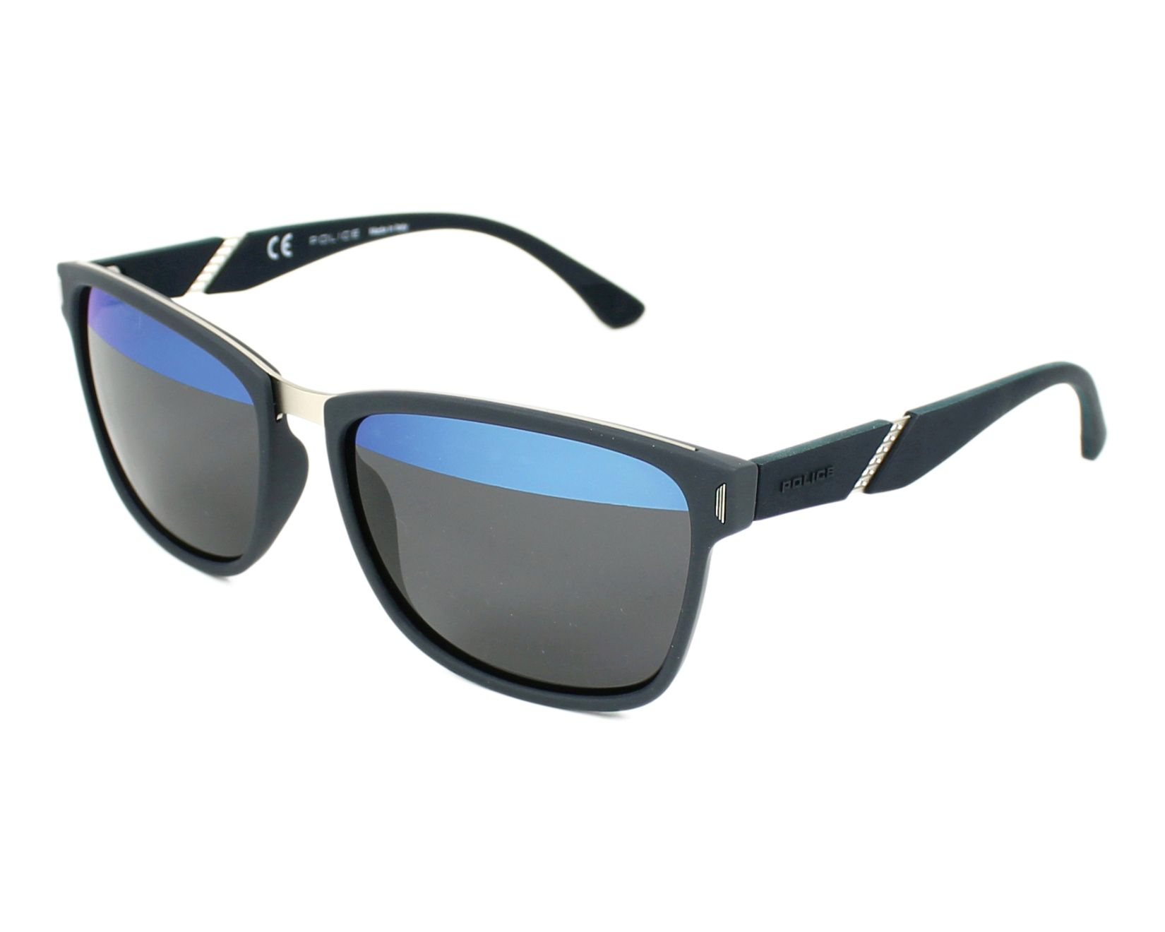 lunettes de soleil police spl 350 92eh bleu avec des verres gris pour hommes. Black Bedroom Furniture Sets. Home Design Ideas