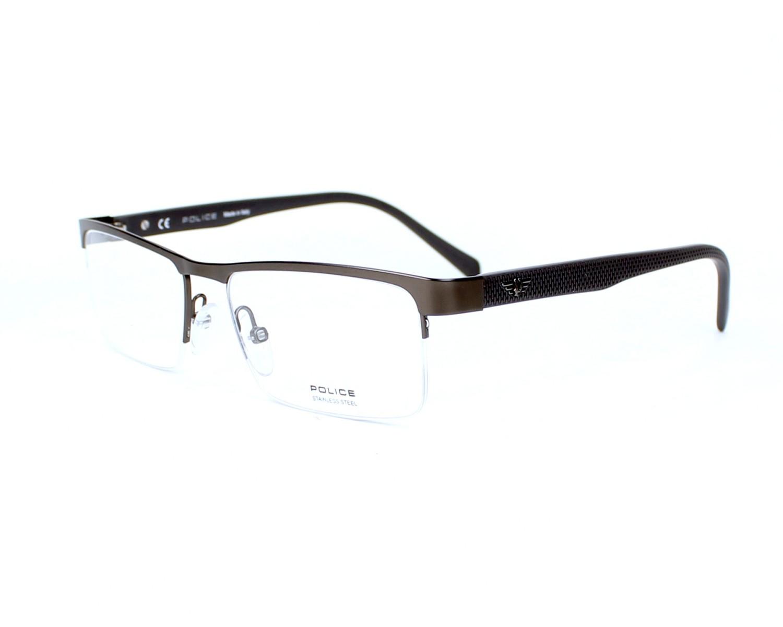 lunettes de vue police vpl 131 gris achat et essai domicile visio. Black Bedroom Furniture Sets. Home Design Ideas