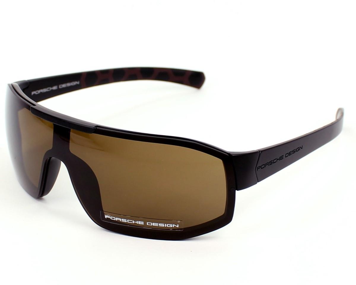 lunettes de soleil porsche design p 8527 d v859 noir avec des verres marron pour hommes. Black Bedroom Furniture Sets. Home Design Ideas