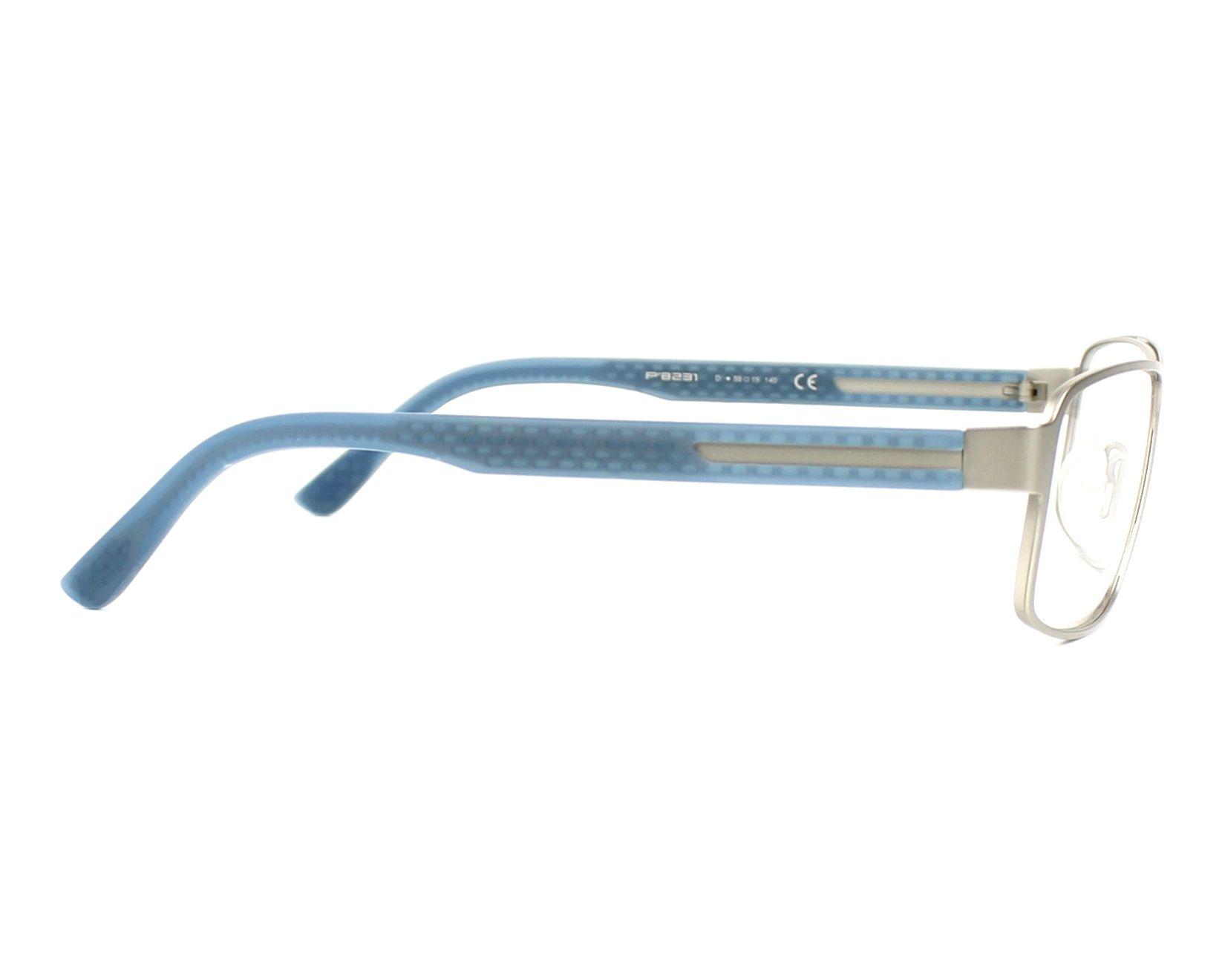 1d7782e3f0c4db Lunettes de vue Porsche Design P-8231 D - Argent Bleu vue de côté
