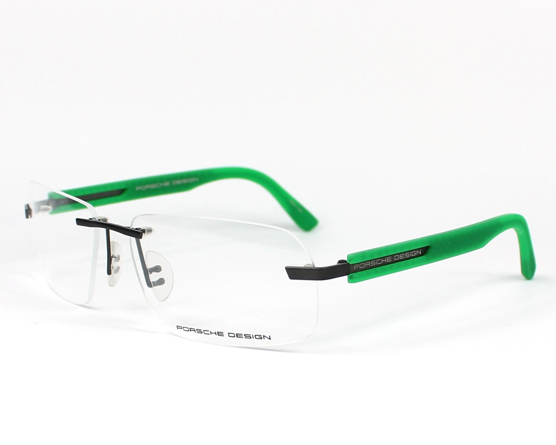 b40410f8b07c6 Lunettes de vue Porsche Design P-8233 S1 60-16 Gris Vert vue de