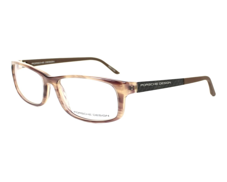 lunettes de vue porsche design p 8243 b marron monture mixte. Black Bedroom Furniture Sets. Home Design Ideas