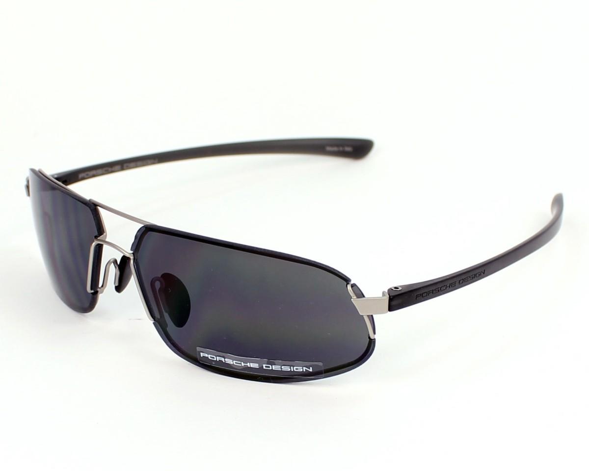 0a8fe28c8e3 Lunettes de soleil Porsche Design P-8484 B - Gris Noir vue de profil