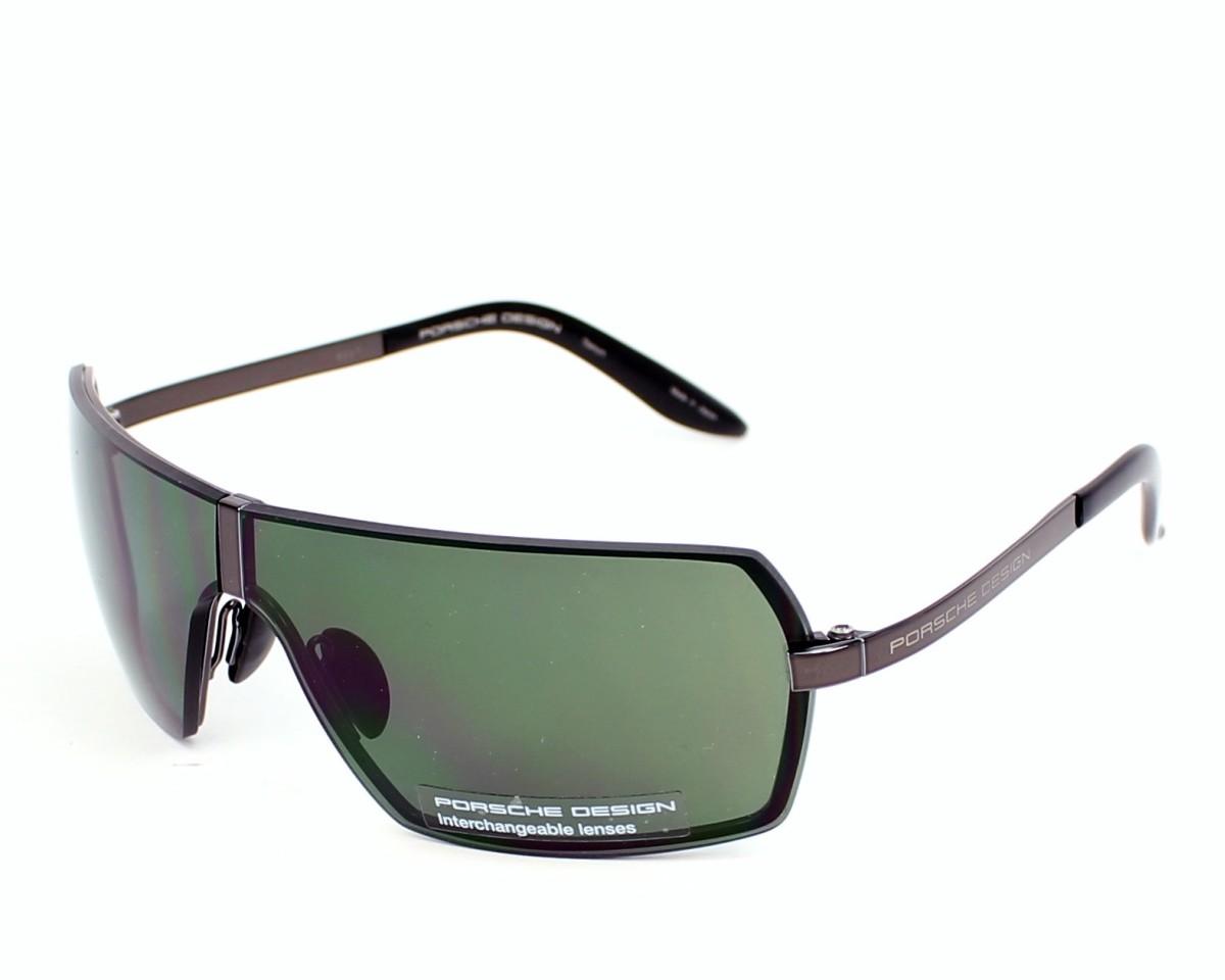 lunettes de soleil porsche design p 8491 a v646 gunmetal avec des verres gris vert pour hommes. Black Bedroom Furniture Sets. Home Design Ideas