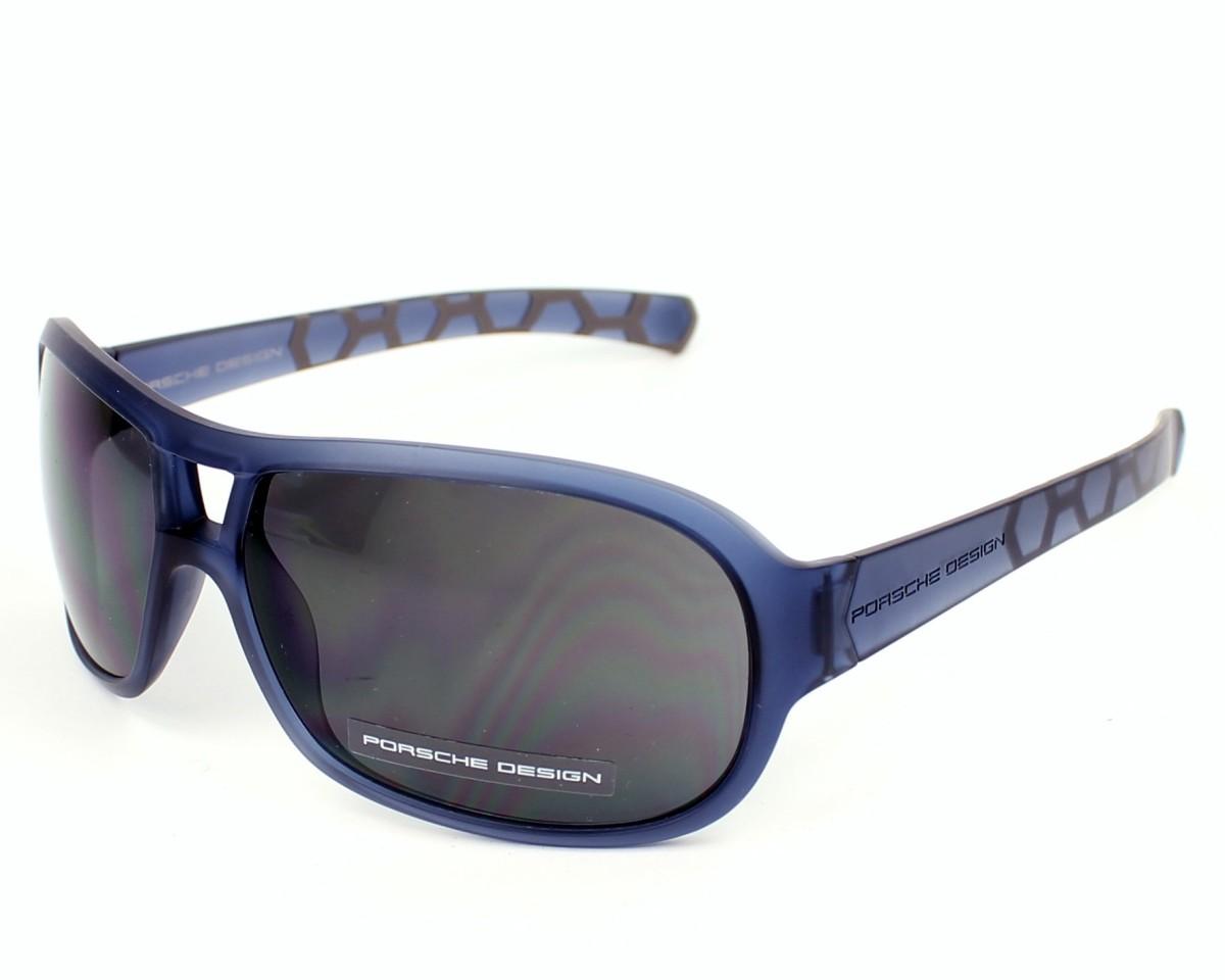 lunettes de soleil porsche design p 8537 b v599 bleu avec des verres gris pour hommes. Black Bedroom Furniture Sets. Home Design Ideas
