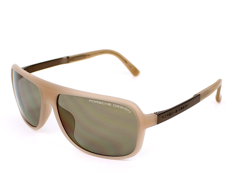 lunettes de soleil porsche design p 8554 b beige avec des verres gris vert pour hommes. Black Bedroom Furniture Sets. Home Design Ideas