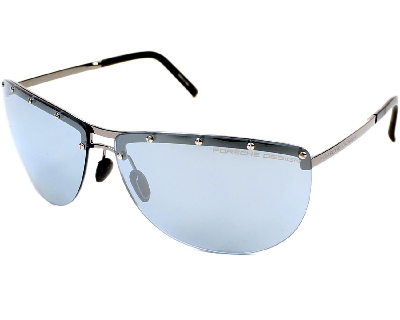 lunettes de soleil porsche design p 8577 b gunmetal avec des verres gris pour hommes taille 68. Black Bedroom Furniture Sets. Home Design Ideas