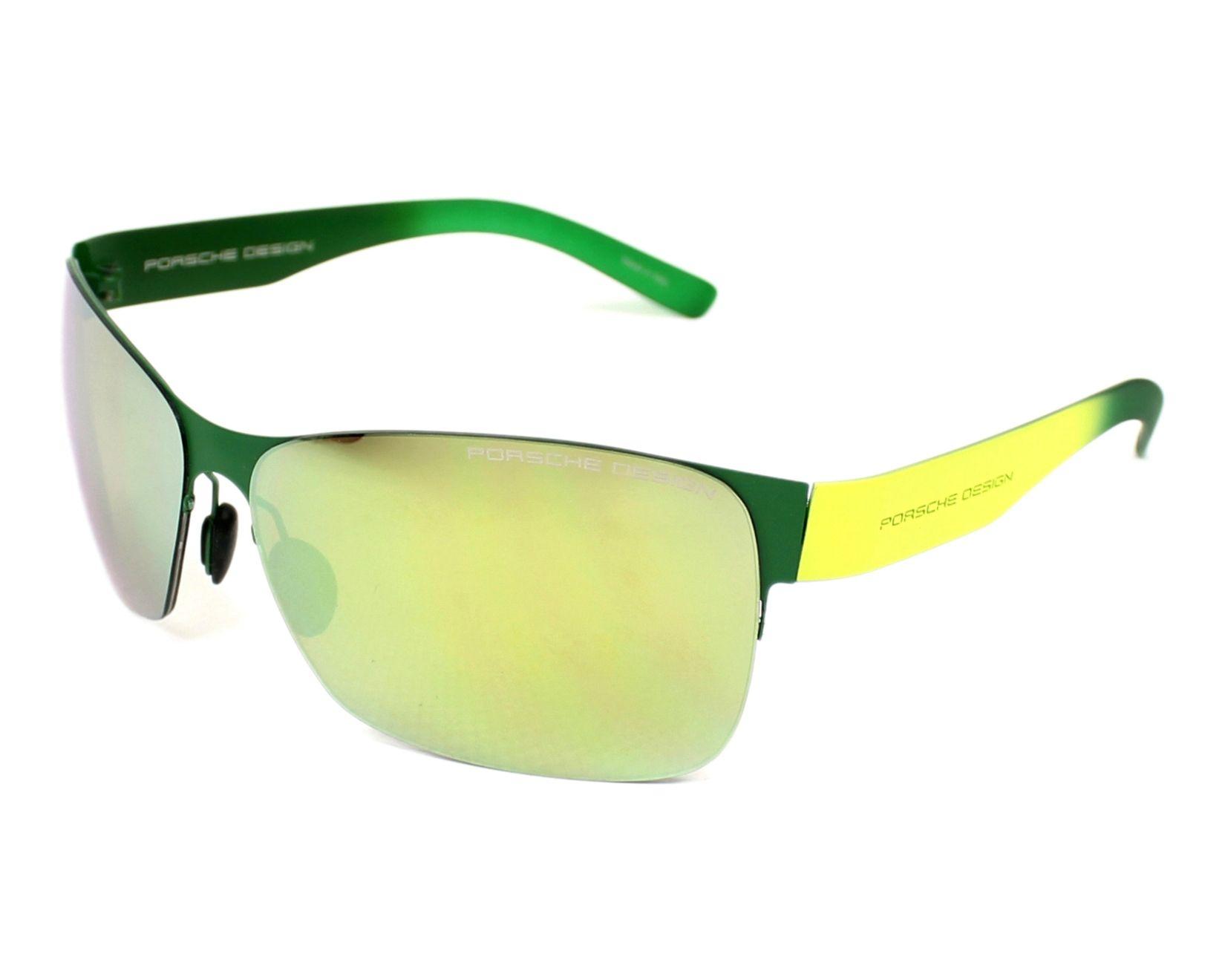 lunettes de soleil porsche design p 8582 b vert avec des verres marron pour hommes taille 64. Black Bedroom Furniture Sets. Home Design Ideas