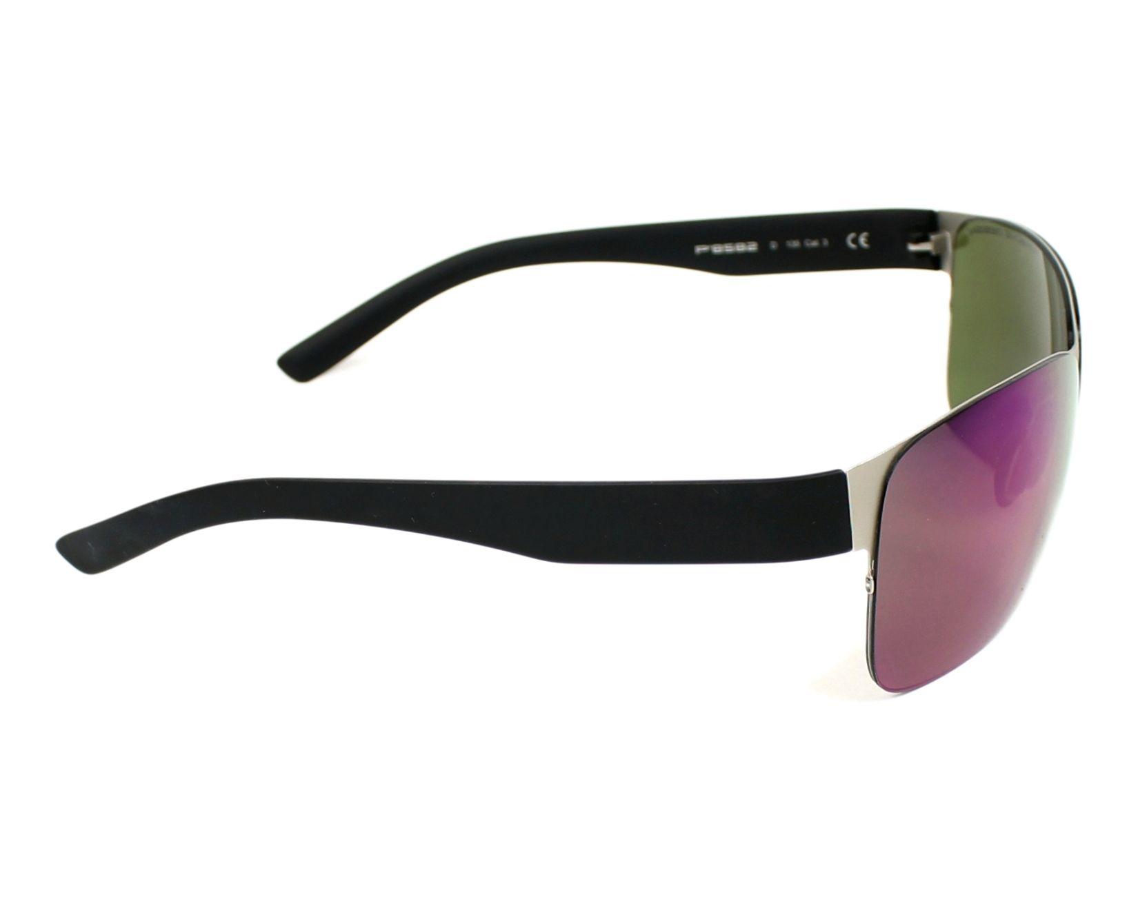 lunettes de soleil porsche design p 8582 d argent avec des verres gris pour hommes. Black Bedroom Furniture Sets. Home Design Ideas