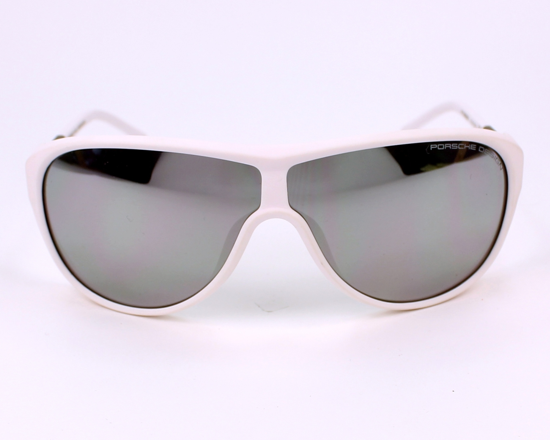 lunettes de soleil porsche design p 8598 d blanc avec des verres gris pour hommes taille 69. Black Bedroom Furniture Sets. Home Design Ideas
