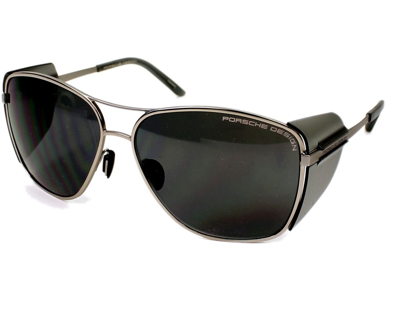 achetez des lunettes de soleil porsche design p 8600 argent pas cher sur visio. Black Bedroom Furniture Sets. Home Design Ideas