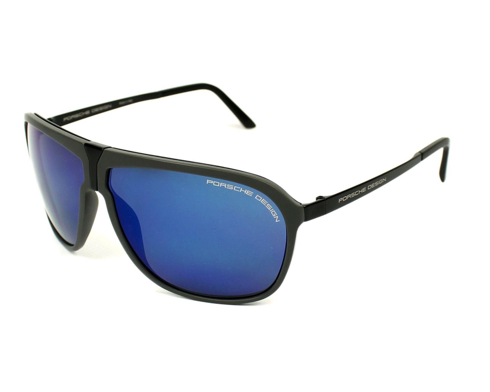 lunettes de soleil porsche design p 8618 b noir avec des verres gris pour hommes. Black Bedroom Furniture Sets. Home Design Ideas
