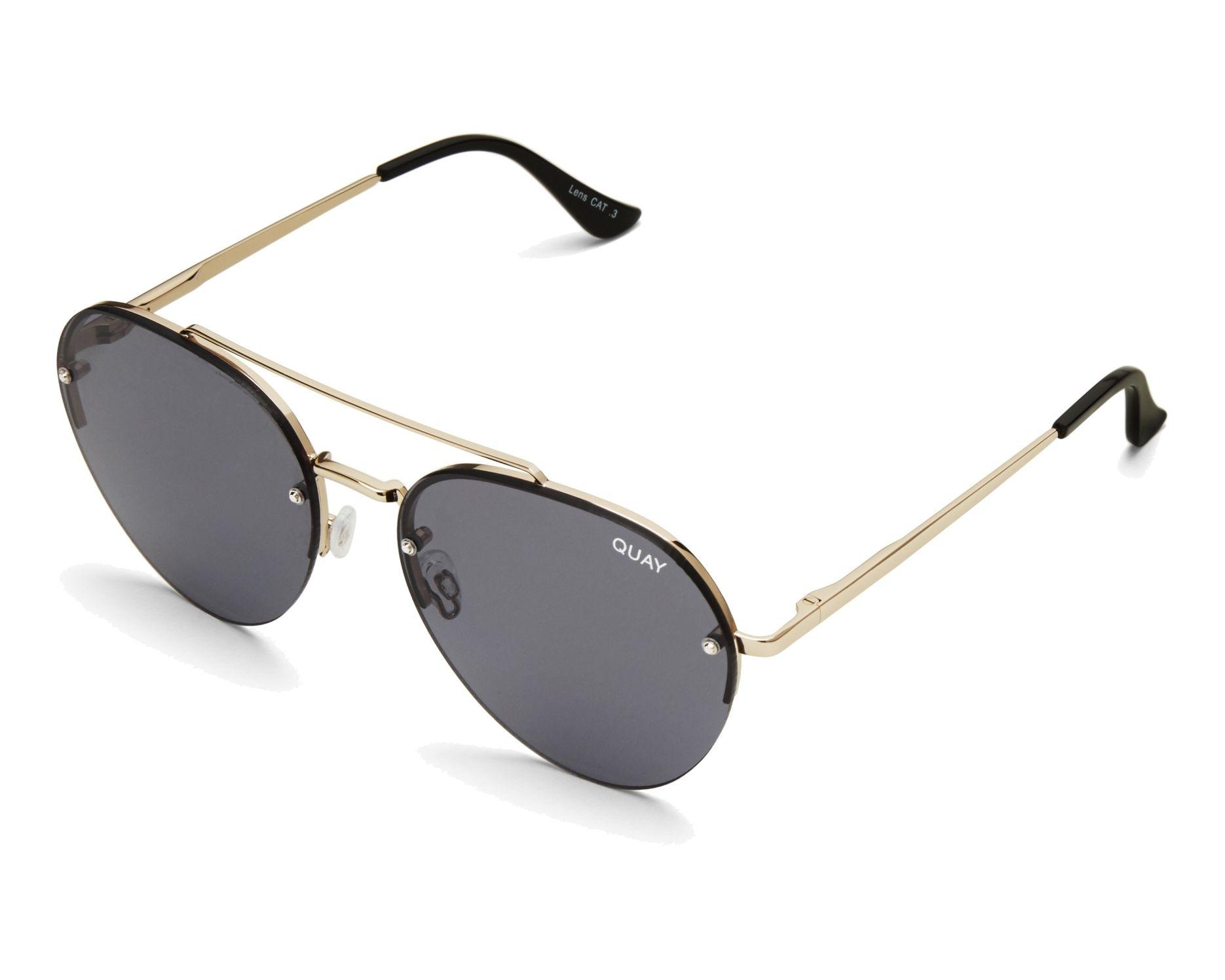 Quay Australia Sunglasses Qw 000205 Gld Smk Gold Visionet