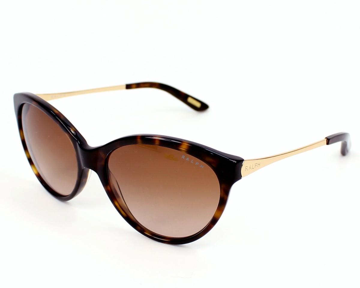 lunettes de soleil ralph by ralph lauren ra 5154 502 13 havane avec des verres marron pour. Black Bedroom Furniture Sets. Home Design Ideas