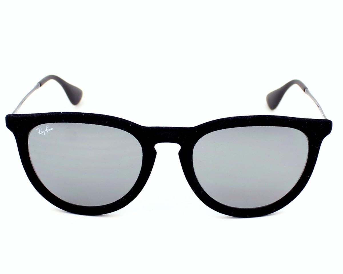 lunettes de soleil ray ban rb 4171 6075 6g noir avec des verres gris. Black Bedroom Furniture Sets. Home Design Ideas