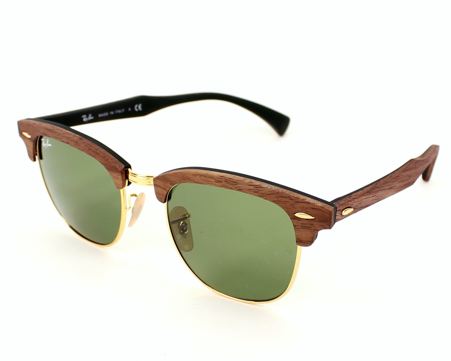 Ray Ban Rb 3016m Clubmaster Wood 1182/4e SSUissIC