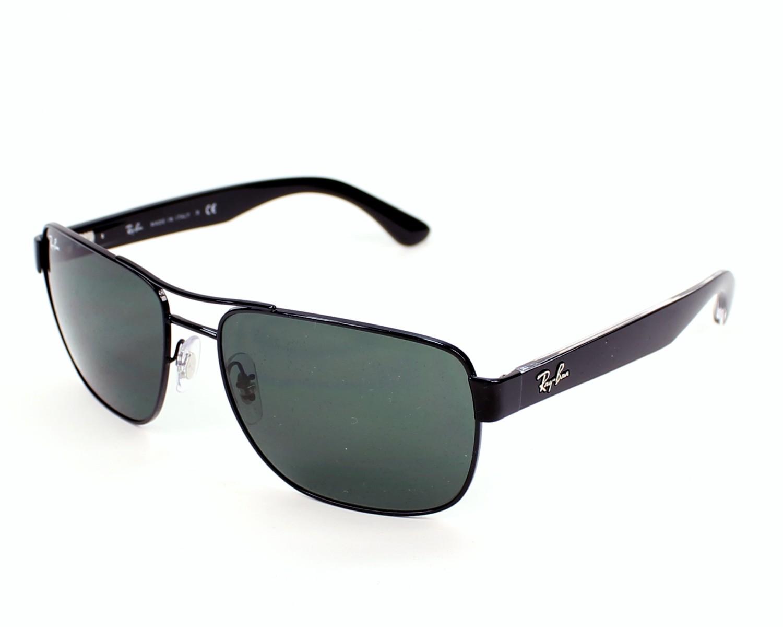 lunettes de soleil ray ban rb 3530 002 71 noir avec des verres gris vert. Black Bedroom Furniture Sets. Home Design Ideas