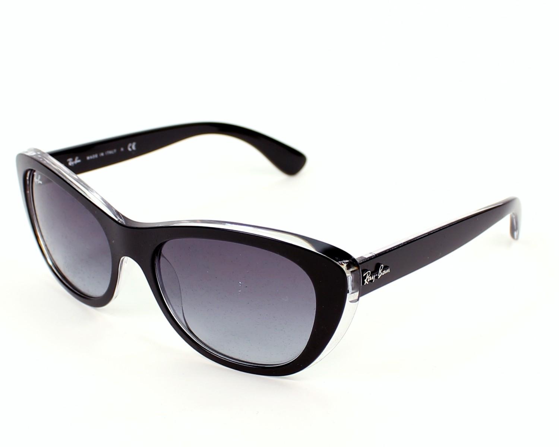 lunettes de soleil ray ban rb 4227 6052 8g noir avec des verres gris. Black Bedroom Furniture Sets. Home Design Ideas