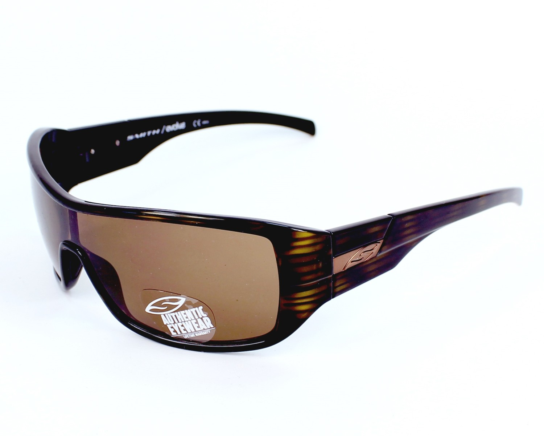 Lunettes de soleil smith optics stronghold atd73 havane avec des verres marron - Verre lunette raye assurance ...