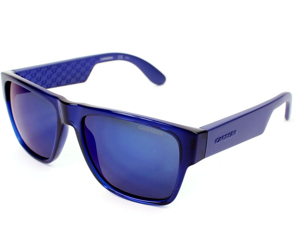 lunettes de soleil carrera carrera 5002 b50 1g bleu avec des verres gris pour hommes. Black Bedroom Furniture Sets. Home Design Ideas