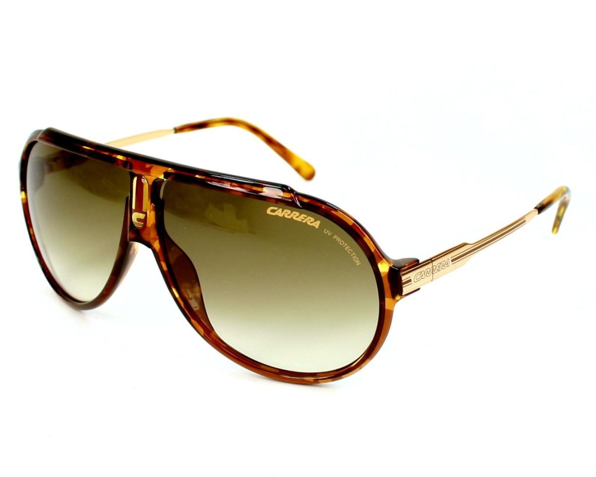 0dd99567fbf34 Lunettes de soleil Carrera Endurance-L 61W DB - Havane Rose doré vue de