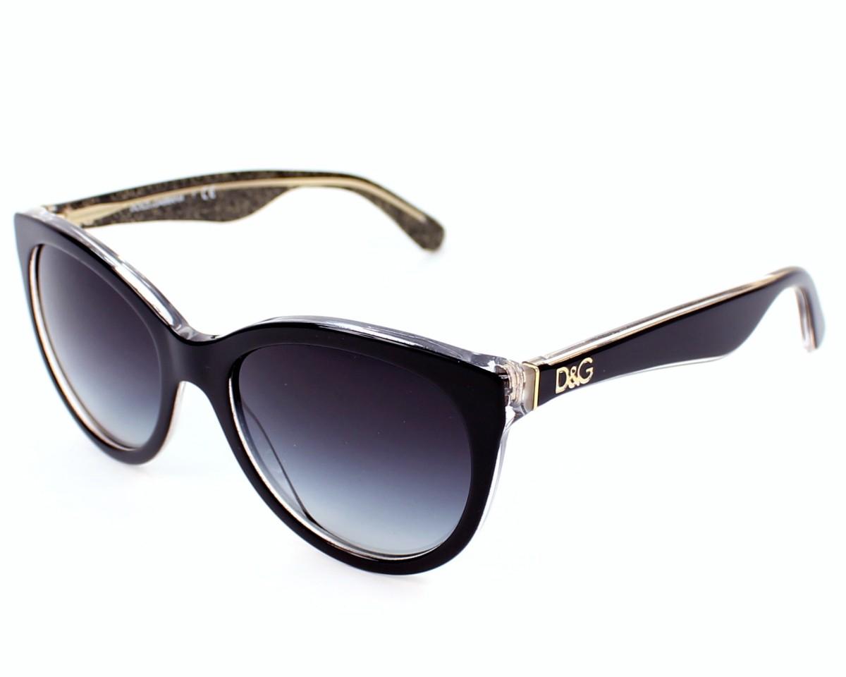 1db96a9404 Lunettes de soleil Dolce & Gabbana DG-4192 2737/8G - Noir Or vue