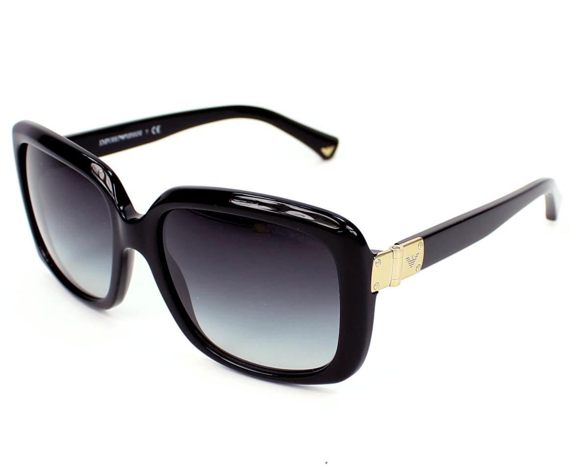 lunettes de soleil emporio armani ea 4008 50178g noir avec des verres gris pour femmes. Black Bedroom Furniture Sets. Home Design Ideas