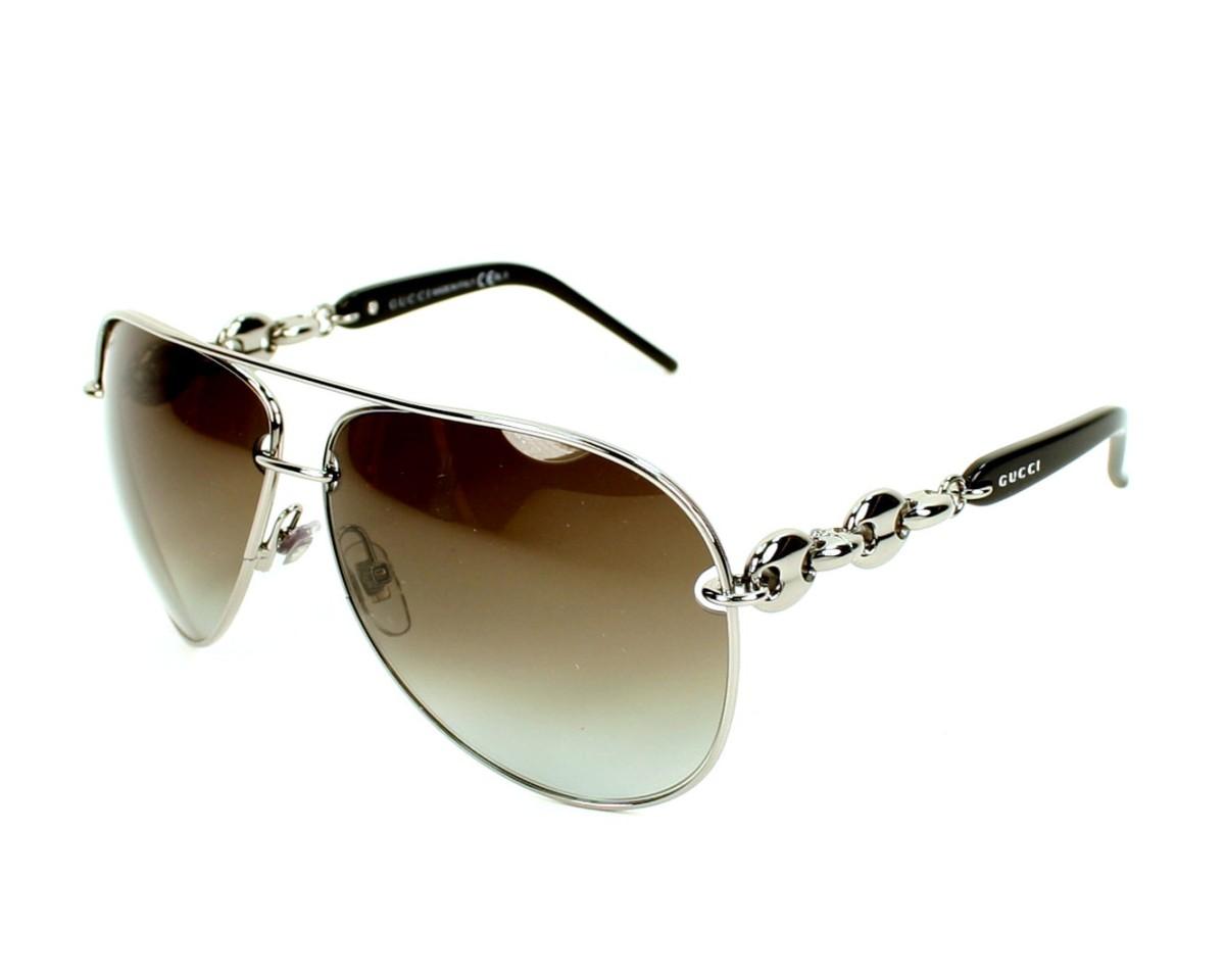c6ae7a7fcfef4 Lunettes de soleil Gucci GG-4225-S BGY IF - Ruthen Noir vue