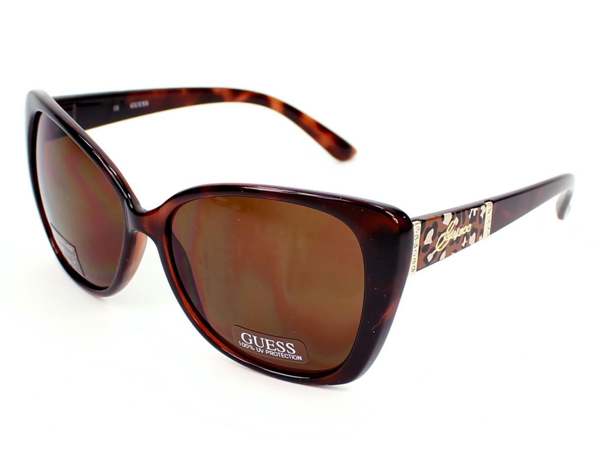 lunettes de soleil guess gu 7213 to 34 havane avec des verres marron pour femmes. Black Bedroom Furniture Sets. Home Design Ideas