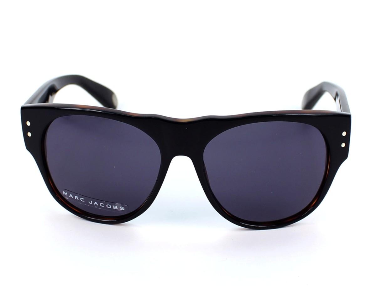 lunettes de soleil marc jacobs mj 439 s uvp bn noir avec des verres gris pour femmes. Black Bedroom Furniture Sets. Home Design Ideas