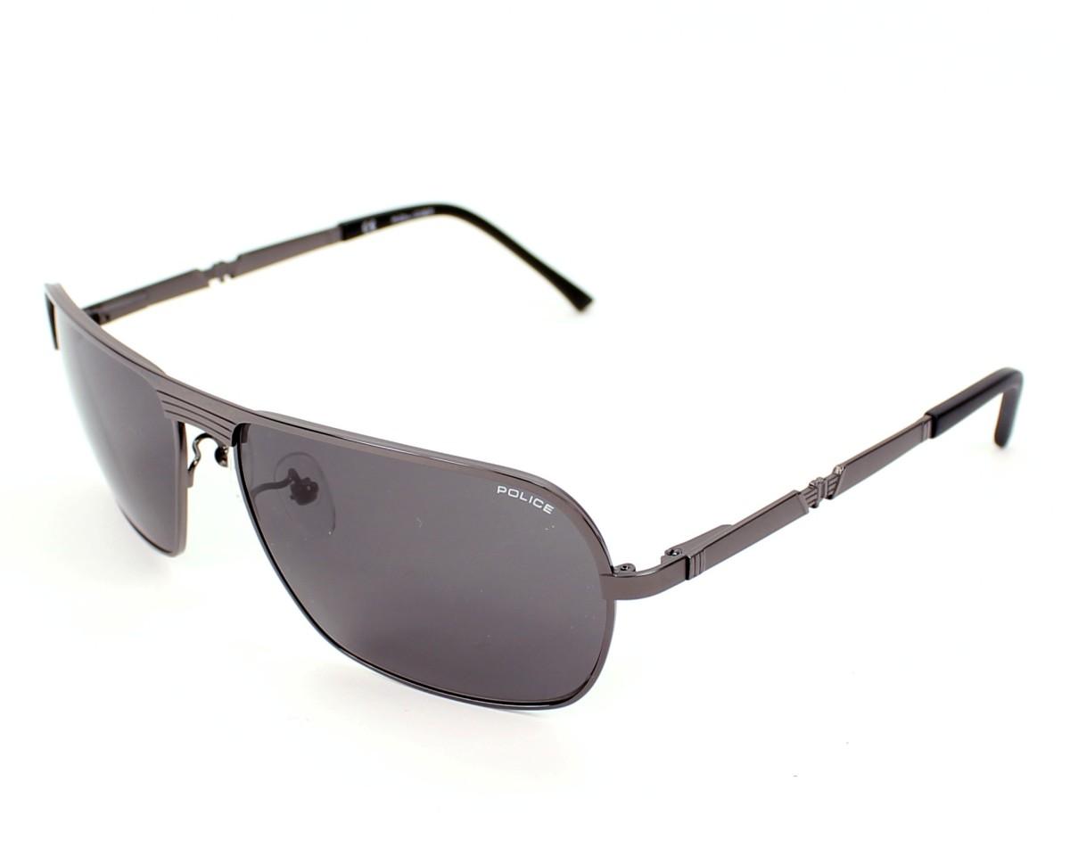 lunettes de soleil police s 8745 584f gunmetal avec des verres gris pour hommes taille 62 pour. Black Bedroom Furniture Sets. Home Design Ideas