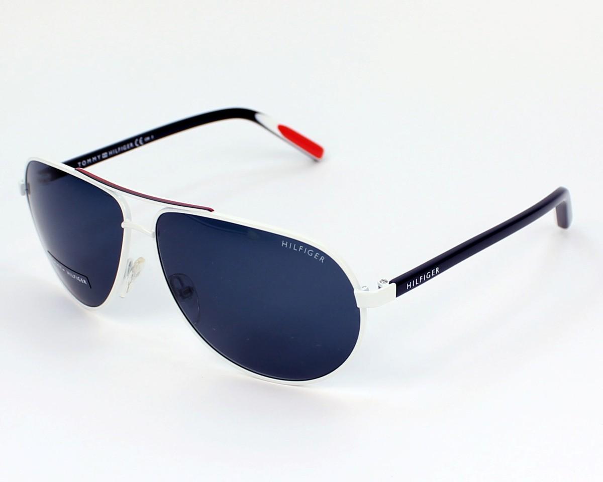077f6b24aba6 Lunettes de soleil Tommy Hilfiger TH-1005-S UOH 9A - Blanc Rouge