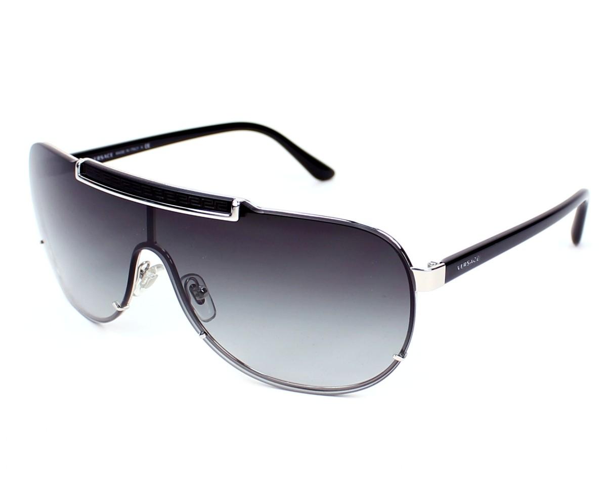 bd8db8816685d Lunettes de soleil Versace VE-2140 1000 8G - Argent Noir vue de profil