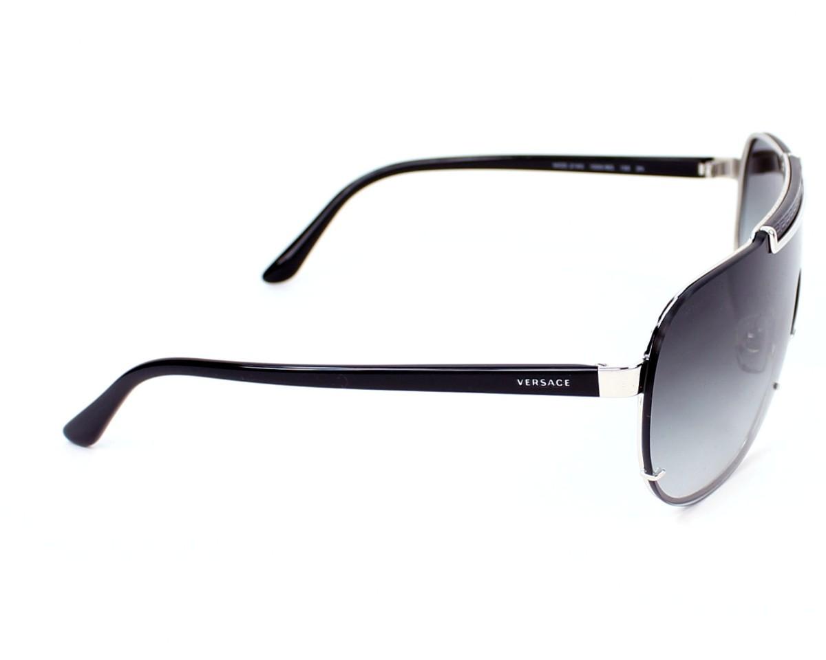 Lunettes de soleil Versace VE-2140 1000 8G - Argent Noir vue de côté f1bea02fa987